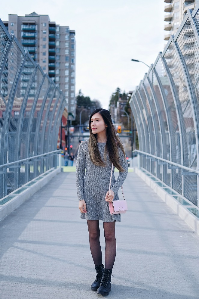 Hollister grey sweater dress
